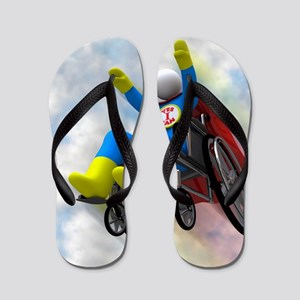 Wheelchair Superhero in Flight Flip Flops
