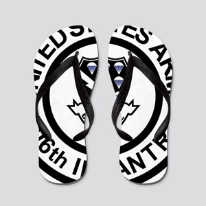 Army-506th-Infantry-Roundel-Black-White Flip Flops