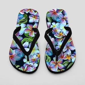d99034557442 White Plumeria Flip Flops - CafePress