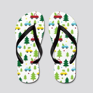 Christmas Tree Holiday Fun Flip Flops