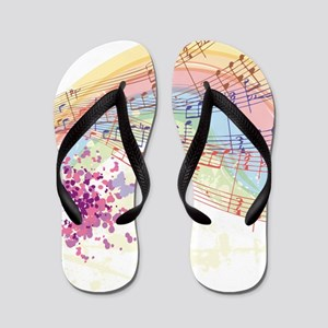 Colorful Music Flip Flops
