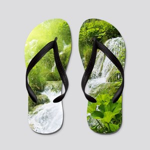 1473a0f3590 Waterfalls Flip Flops - CafePress