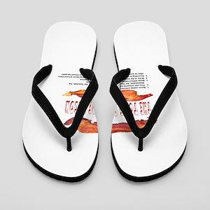 858e744508462 Bacon Flip Flops - CafePress