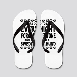 Swedish Vallhund Dog Designs Flip Flops