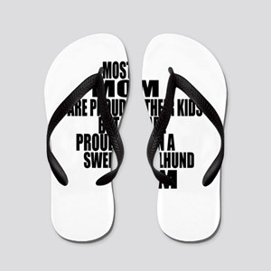 Swedish Vallhund Dog Mom Flip Flops