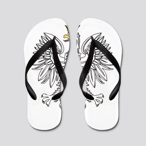 Polish Eagle With Gold Crown Flip Flops