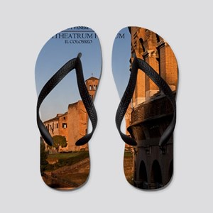 Rome - Colosseum and Temple of Venus Flip Flops
