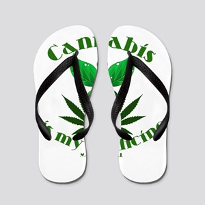 Cannabis is my medicine Flip Flops