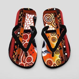 a4b89808eac Aboriginal Flip Flops - CafePress