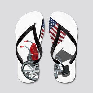 American Flag and Wheelchair Flip Flops