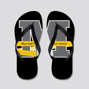 M Logo With Langston Hughes Quote Flip Flops