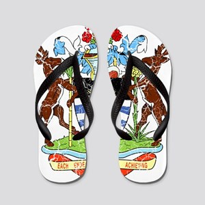 Antigua and Barbuda Coat Of Arms Flip Flops