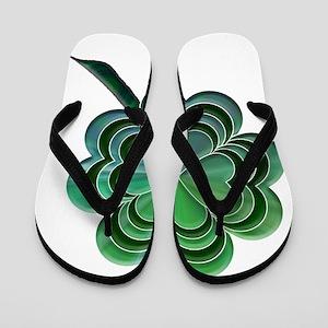 4 leaf clover Flip Flops