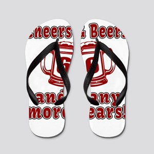 Cheers And Beers 66 And Many More Years Flip Flops