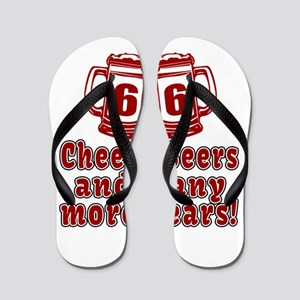 66 Cheers Beers And Many More Years Flip Flops