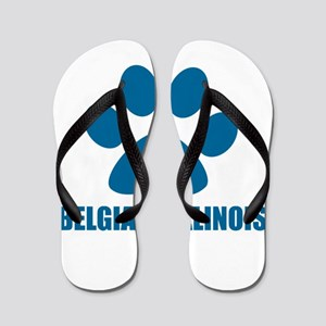 Belgian Malinois Dog Designs Flip Flops