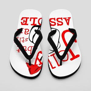 JOLLY BUT STILL AN ASSHOLE Flip Flops