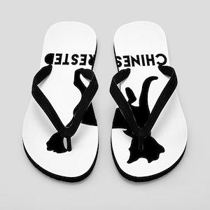 Chinese Crested Dog Designs Flip Flops