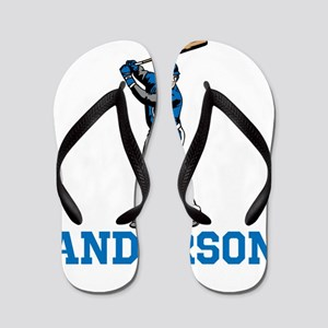 Personalized Baseball Flip Flops