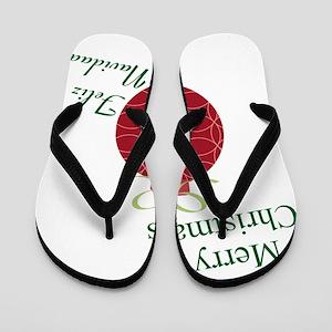 Merry Christmas Feliz Navidad Flip Flops