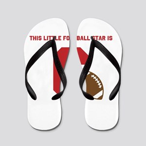 Football Star Custom Age Flip Flops