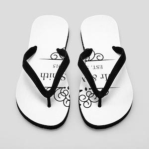 Custom Couples Name and wedding date Flip Flops