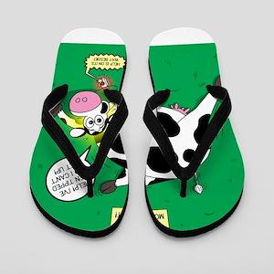 First Moo-lert Flip Flops