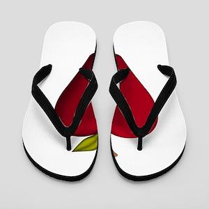 Red Apple Flip Flops