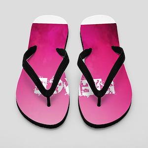 FIERCE IN PINK Flip Flops
