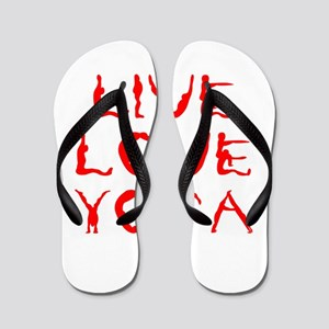 LIVE-LOVE-YOGA-yoga-red Flip Flops