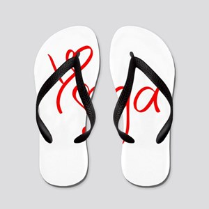 yoga-jel-red Flip Flops