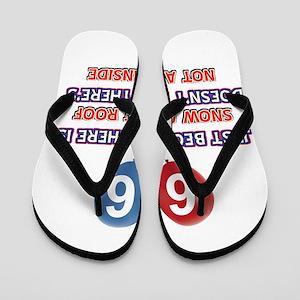 66 year old designs Flip Flops