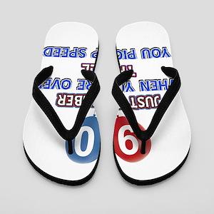 90 year old designs Flip Flops
