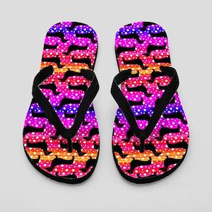 Rainbow Dachshunds Flip Flops