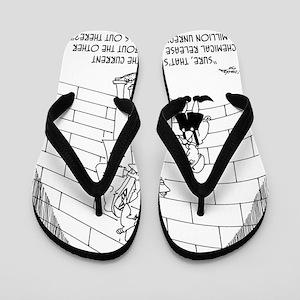 7939_water_cartoon Flip Flops