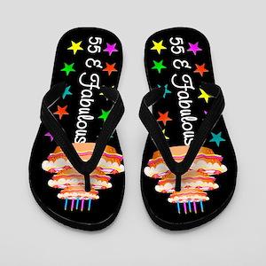 LOVELY 55TH Flip Flops