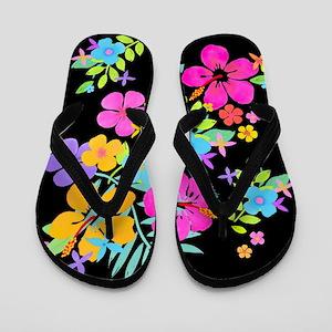 Tropical Flowers Flip Flops