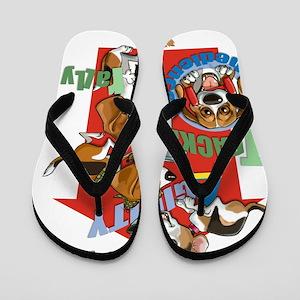 Beagles16x20 Flip Flops