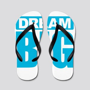 Dream Big - Blue Flip Flops