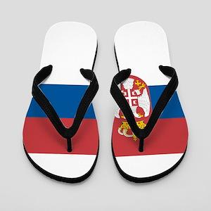 Serbian flag Flip Flops