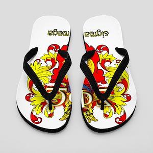 Sigma Phi Omega Crest Flip Flops