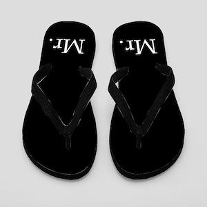 Black Mr Flip Flops - For Him