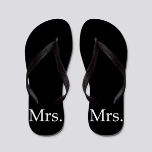 Black Mrs Flip Flops - For Her