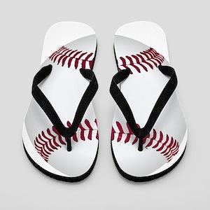 Baseball ball Flip Flops