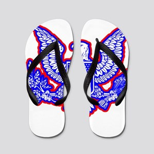 Red, White, and Blue Eagle Flip Flops