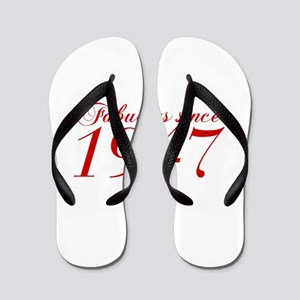 Fabulous since 1947-Cho Bod red2 300 Flip Flops
