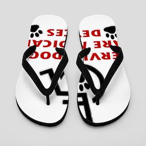 SERVICE DOG DEVICE Flip Flops