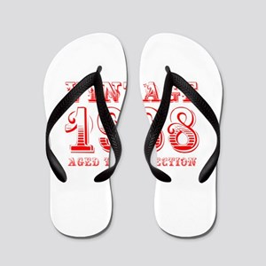 VINTAGE 1968 aged to perfection-red 400 Flip Flops