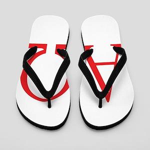 Alpha Omega Flip Flops