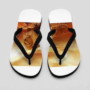 Lion Flip Flops